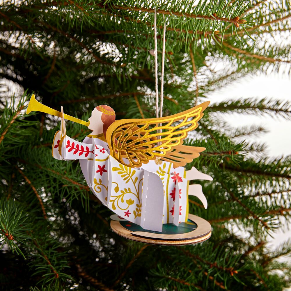 Holiday Angel Ornament             pop up card