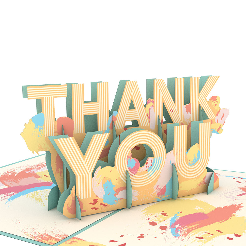 Artistic Thank You             pop up card