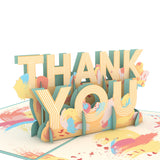 Artistic Thank You                                   pop up card - thumbnail
