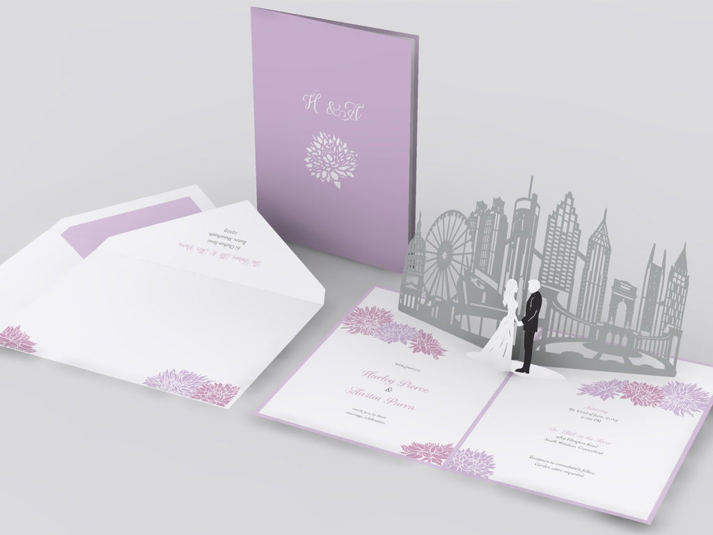 Atlanta Skyline pop up card
