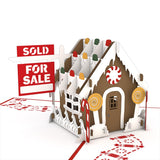 Gingerbread House for Sale pop up card - thumbnail