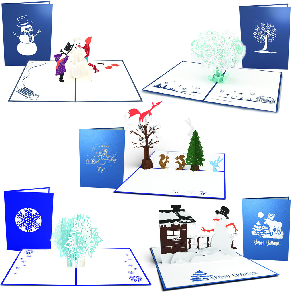 Baby it's cold outside 5 pack pop up card