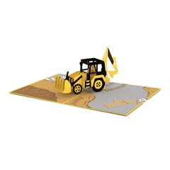 Backhoe Pop up Card greeting card -  Lovepop