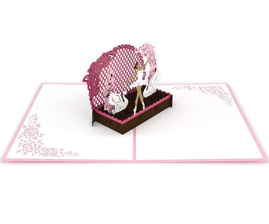 3D pop-up card open -  Lovepop