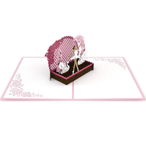 Ballerina Pop Up Dance Card greeting card -  Lovepop
