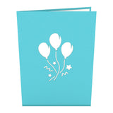 Blue Balloon Bunch                                   pop up card - thumbnail