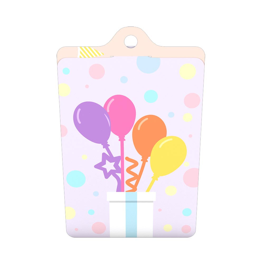 Gift Tag 4-Pack: Balloon Bunch             pop up card