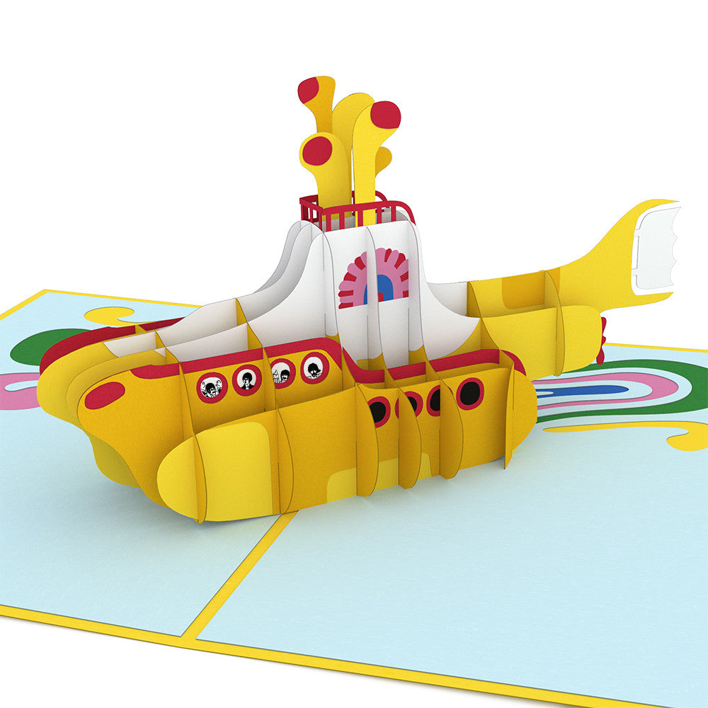 The Beatles Yellow Submarine pop up card