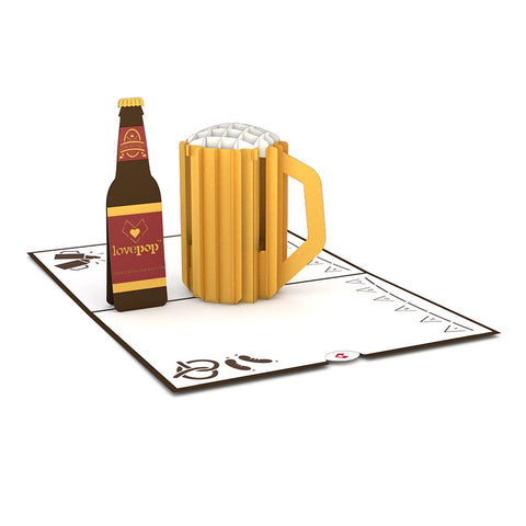 Beer Pop Up Greeting Card greeting card -  Lovepop