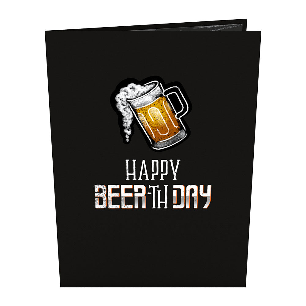 Beer-th Day birthday pop up card