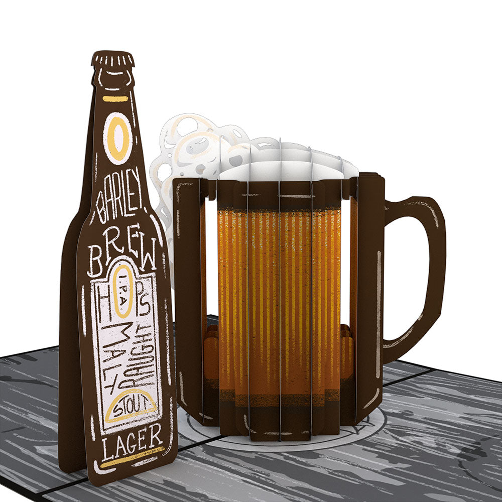 Beer-th Day Pop-Up Card