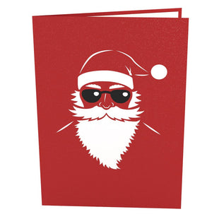 Santa Biker Pop Up Christmas Card