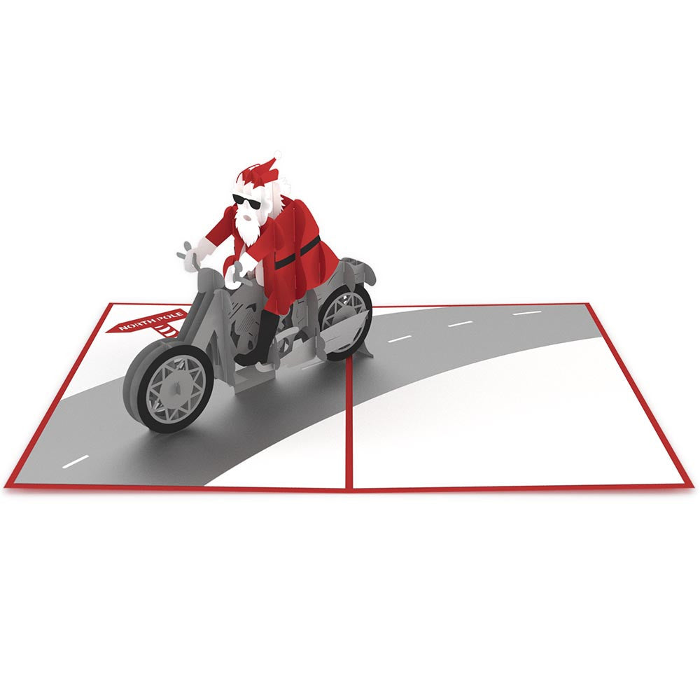 Santa Biker pop up card