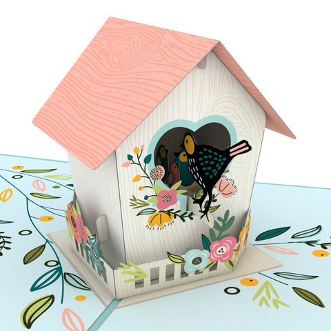 Birdhouse greeting card -  Lovepop