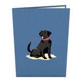 Black Lab pop up card - thumbnail