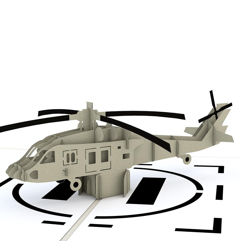 Helicopter Pop Up Card