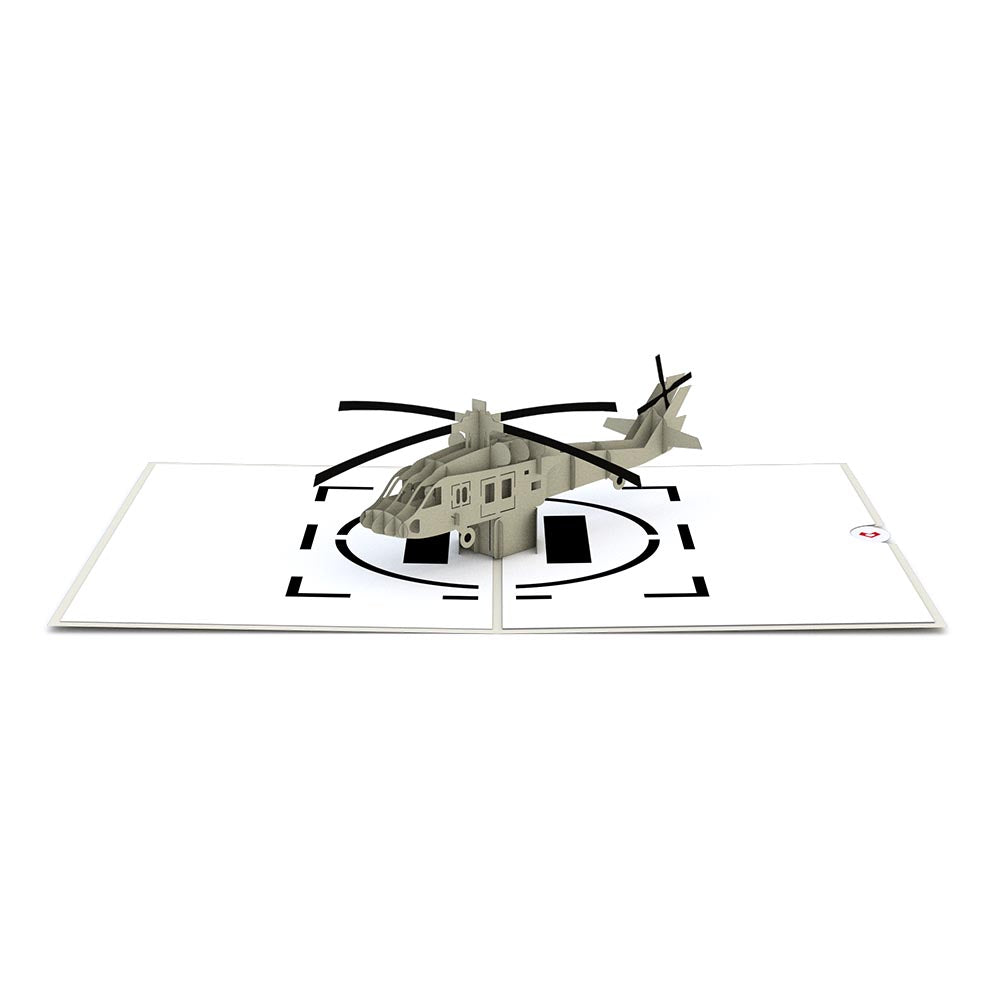 Helicopter Pop-Up Card