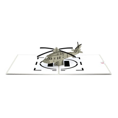 Blackhawk Helicopter greeting card -  Lovepop