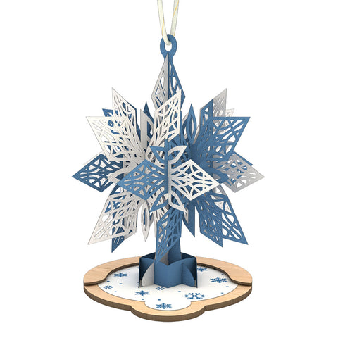 Blue Snowflake Ornament greeting card -  Lovepop
