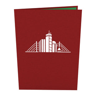 Boston Skyline Pop Up Card