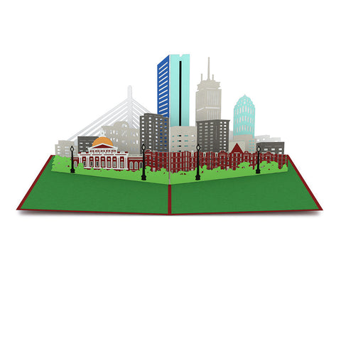 Boston Skyline Pop Up Card greeting card -  Lovepop