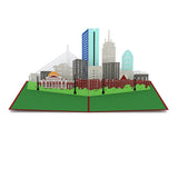 Boston Skyline pop up card - thumbnail