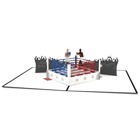 Pop Up Boxing Card 3D pop-up card open -  Lovepop