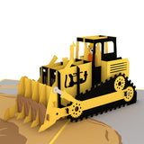 Bulldozer pop up card - thumbnail