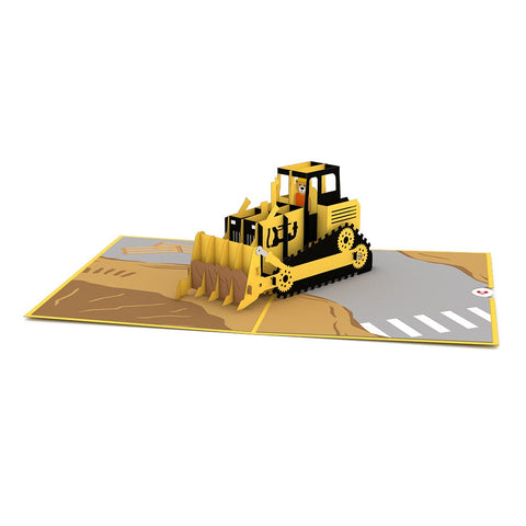 Bulldozer Pop up Card greeting card -  Lovepop
