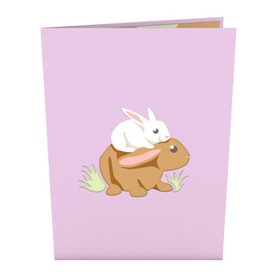 Bunny Family Pop up Card