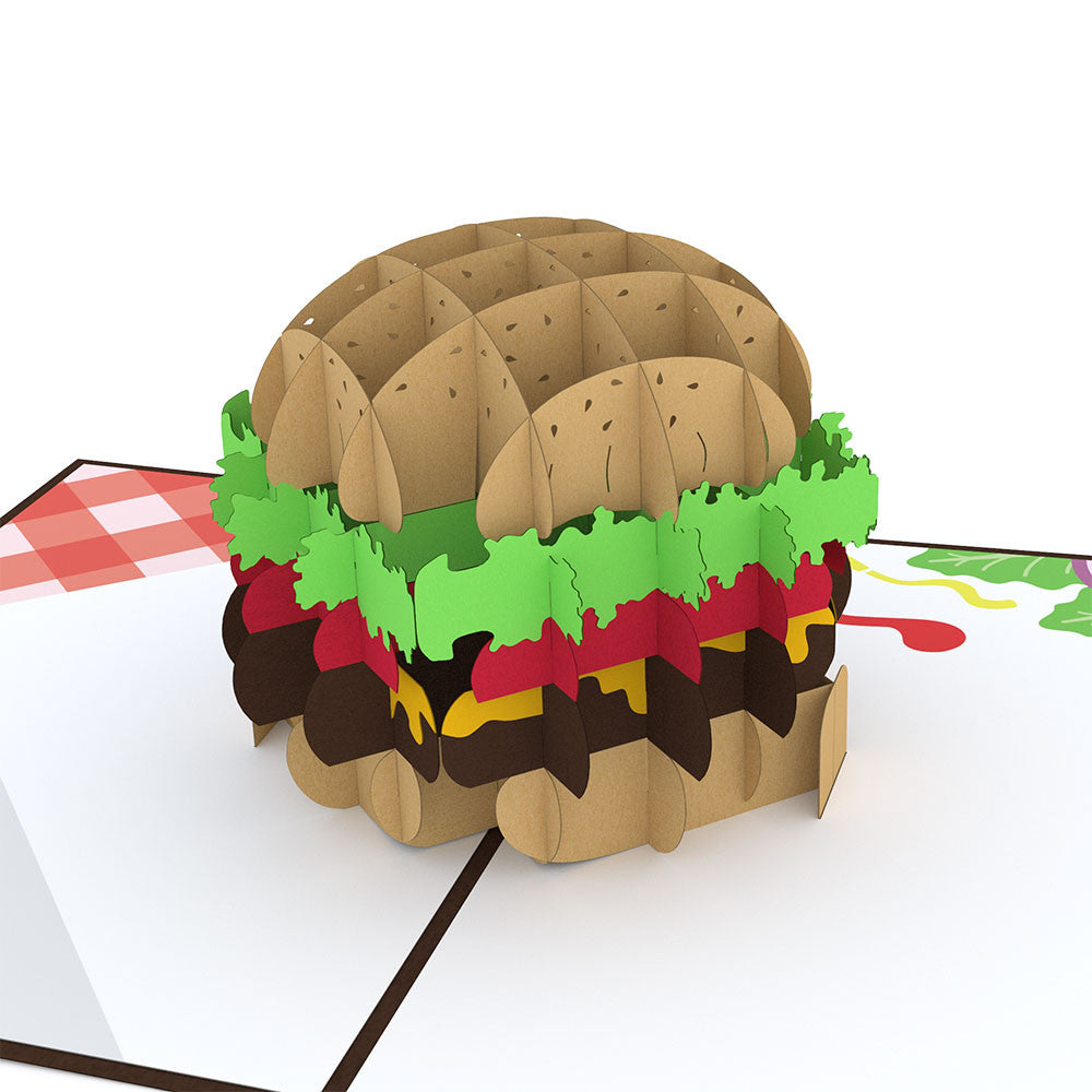 Burger pop up card
