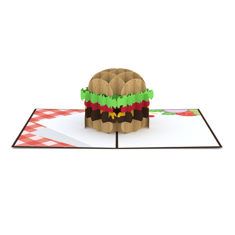 Burger Pop up Card greeting card -  Lovepop