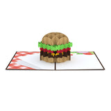 Burger pop up card - thumbnail