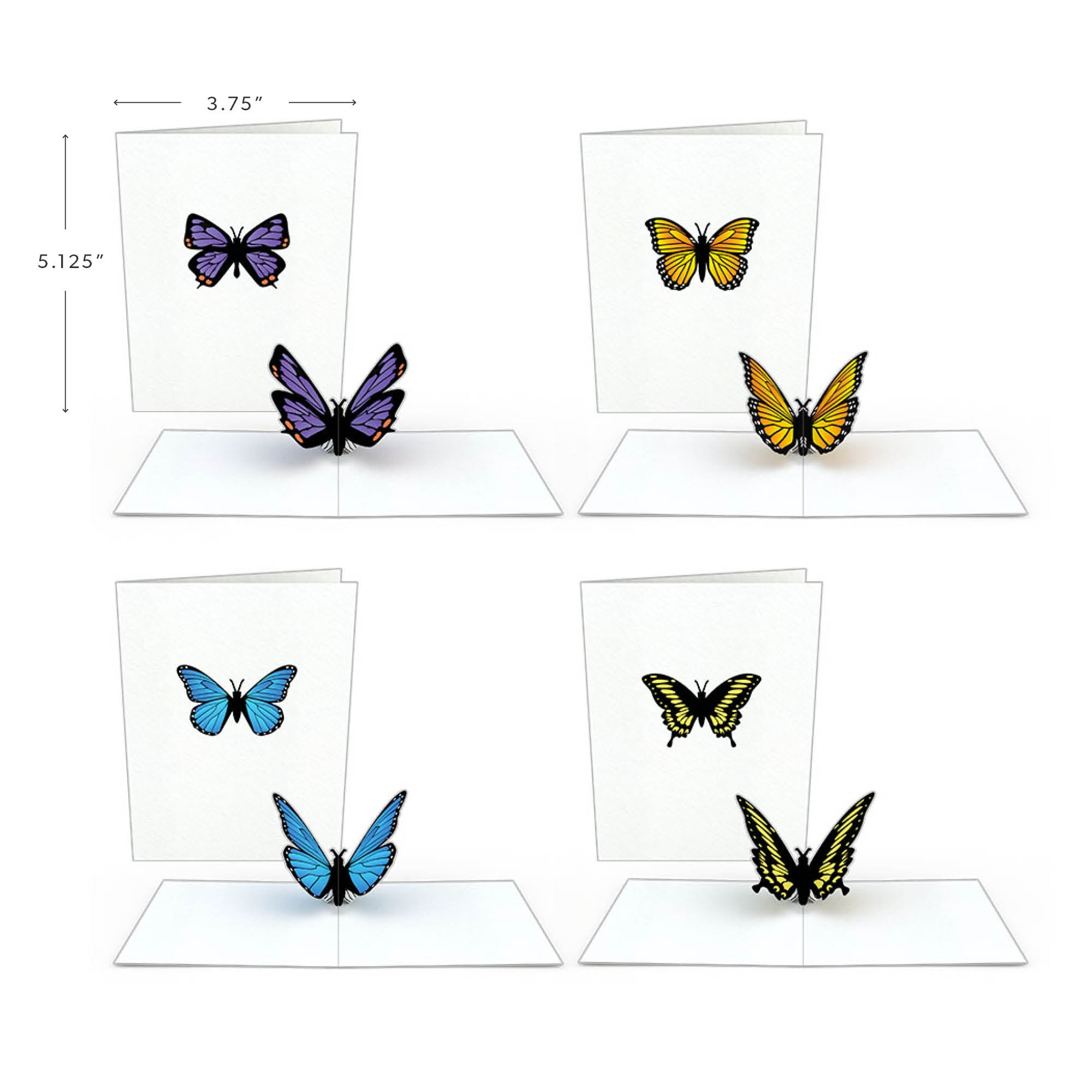 Butterfly Notecards (Assorted 4-Pack)