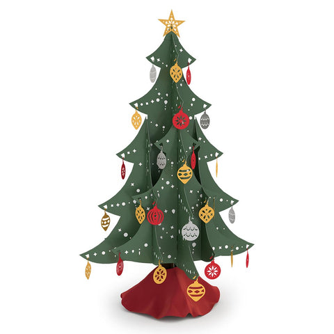Festive Tabletop Christmas Tree greeting card -  Lovepop