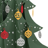 Festive Tabletop Christmas Tree pop up card - thumbnail
