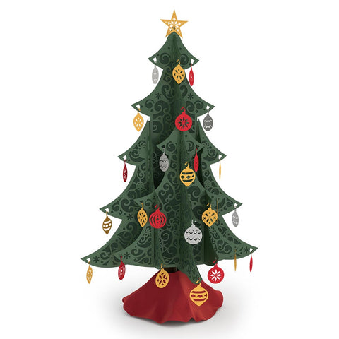 Ornate Tabletop Christmas Tree greeting card -  Lovepop
