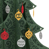 Ornate Tabletop Christmas Tree pop up card - thumbnail