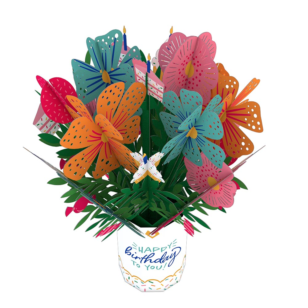 Birthday Flower Bouquet                                         pop up card