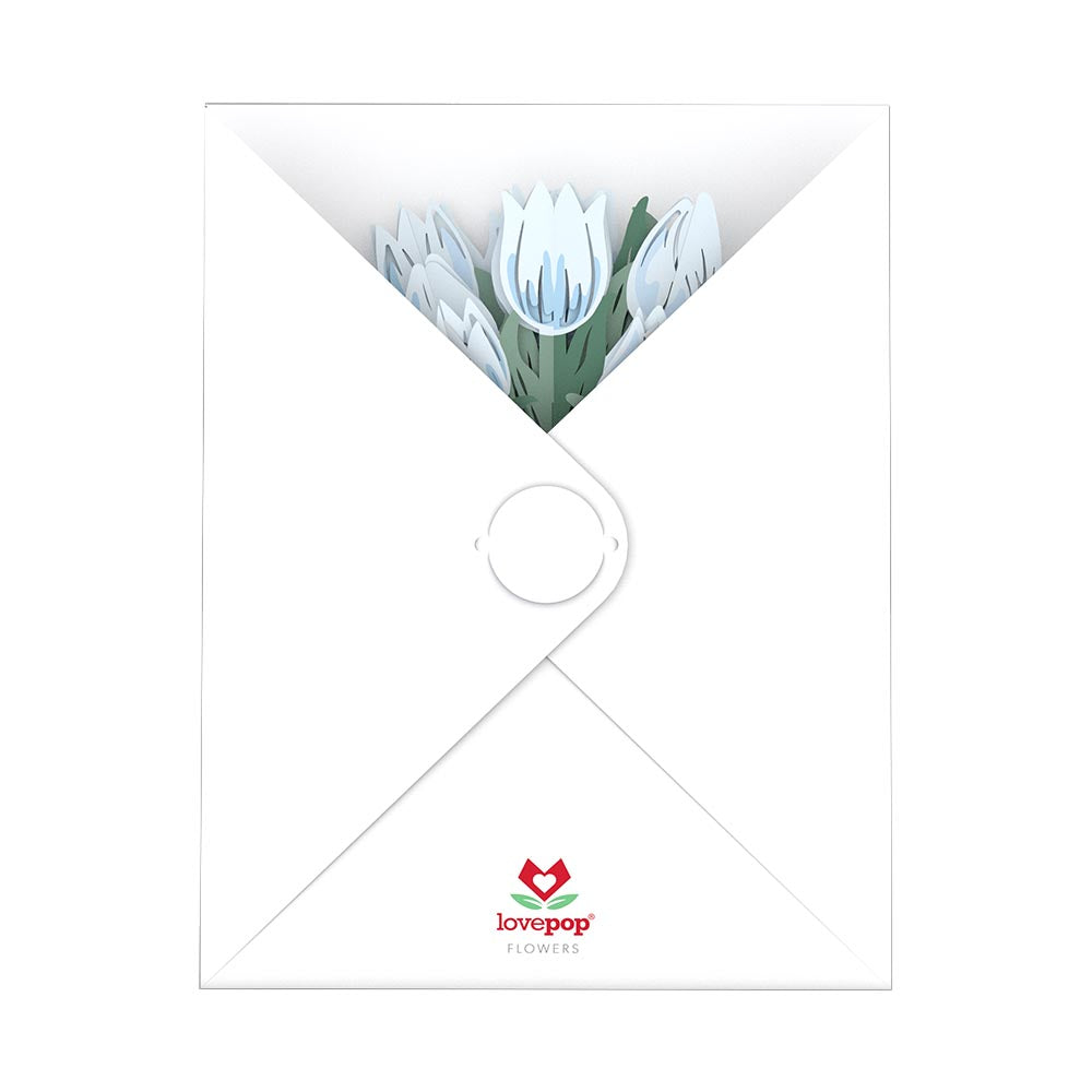 Sympathy Tulip Bouquet             pop up card