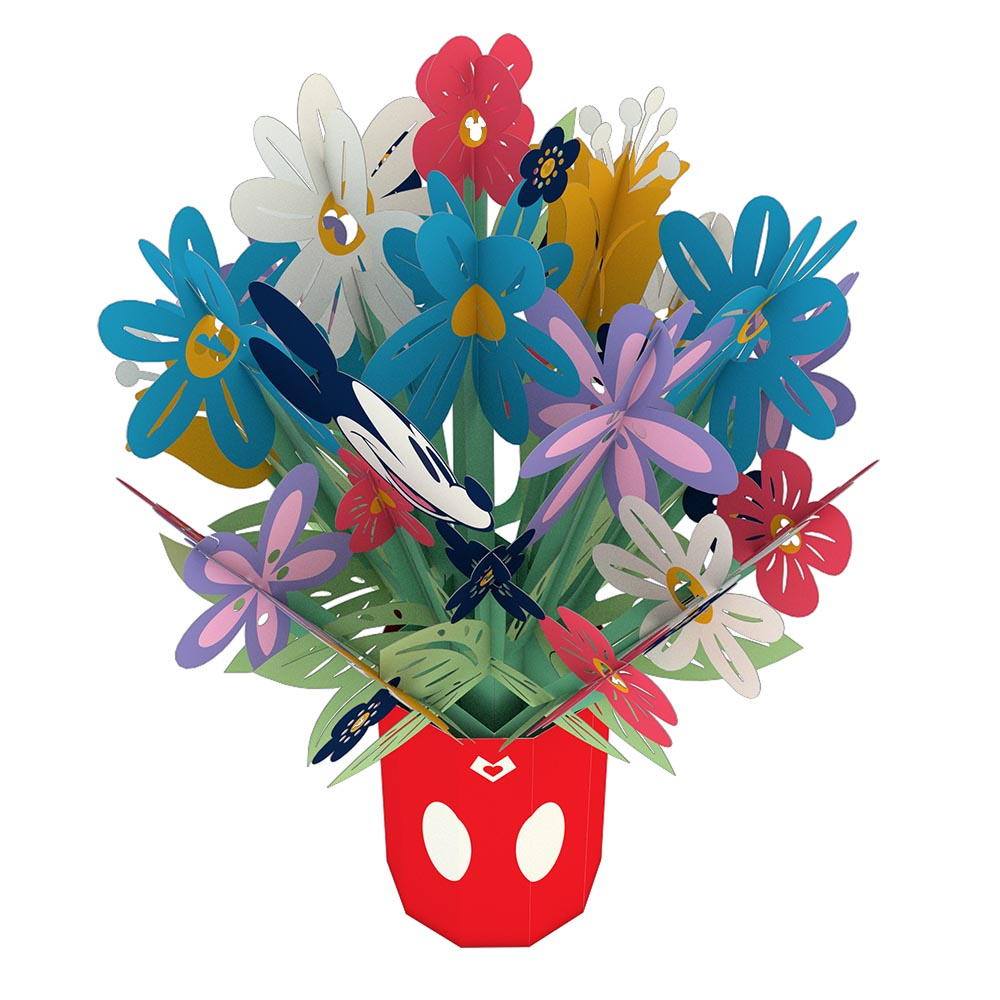Disney's Mickey Mouse Colorful Blooms Bouquet             pop up card