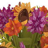 Fall Flower Bouquet                                   pop up card - thumbnail