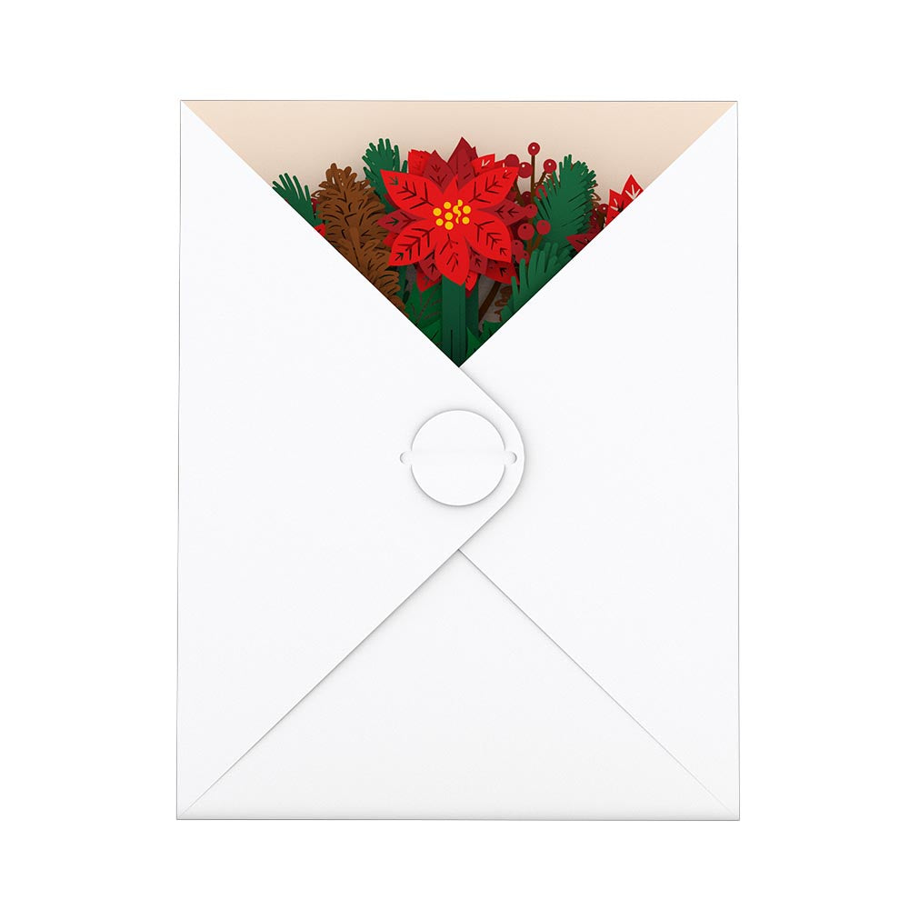 Holiday Flower Bouquet             pop up card