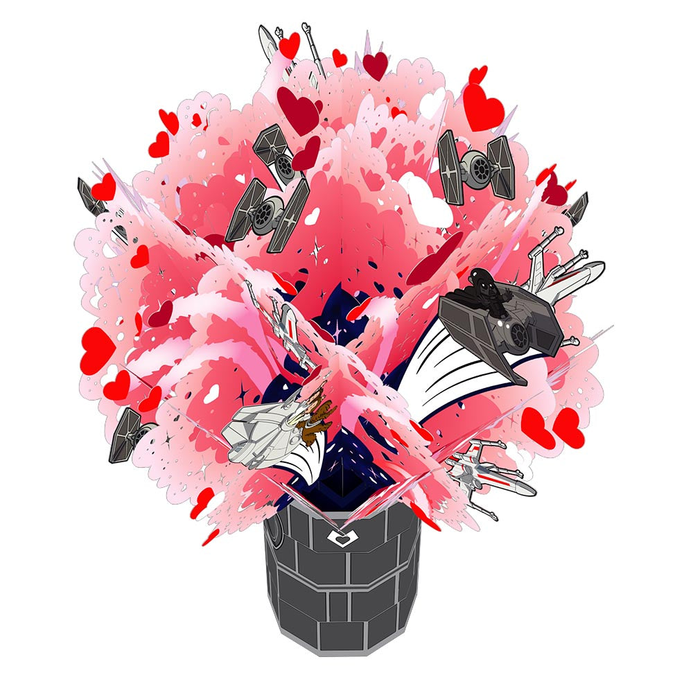 Star Wars™ Death Star™ Love Explosion Bouquet             pop up card