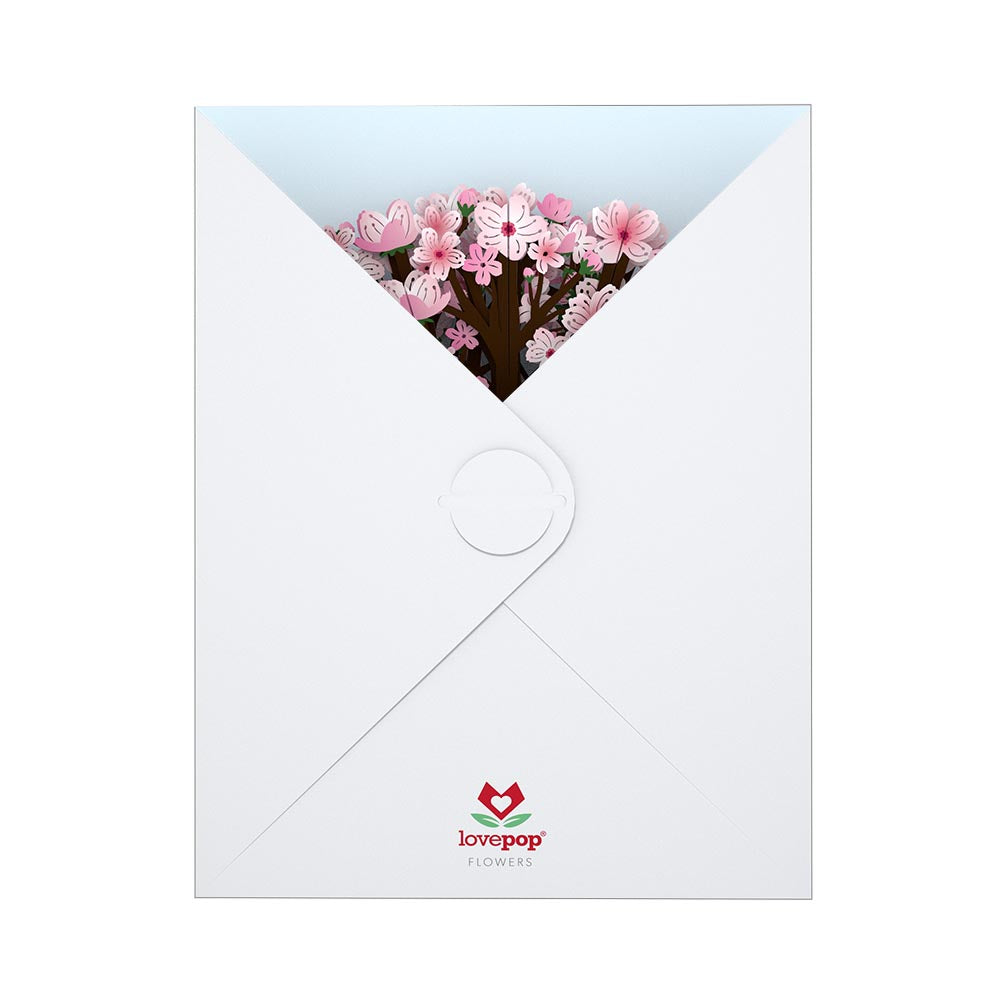 Cherry Blossom Bouquet                                             birthday                            pop up card