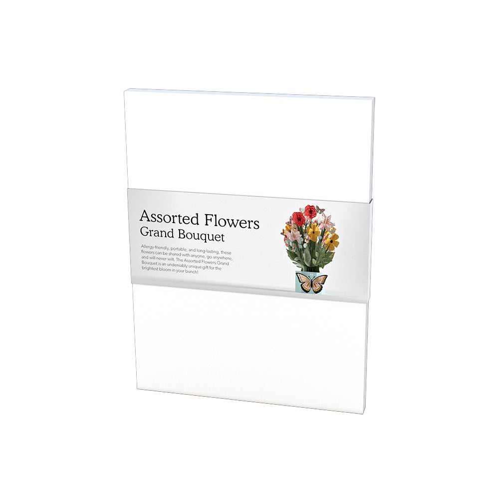 Assorted Flowers Grand Bouquet             pop up card