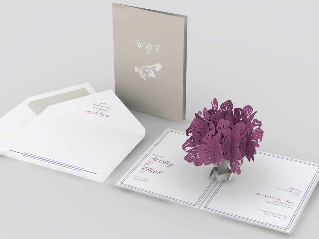 Calla lily bouquet wedding invitation lovepop calla lily bouquet pop up card izmirmasajfo