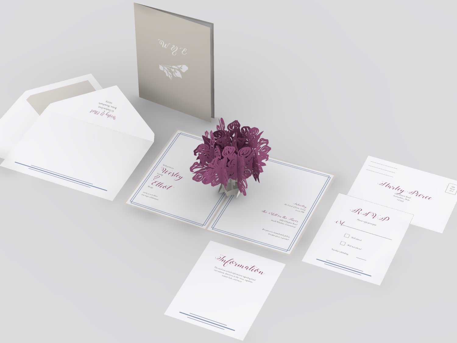 Calla lily bouquet wedding invitation lovepop calla lily bouquet pop up card thumbnail izmirmasajfo
