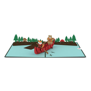 Canoe Pop up Card greeting card -  Lovepop