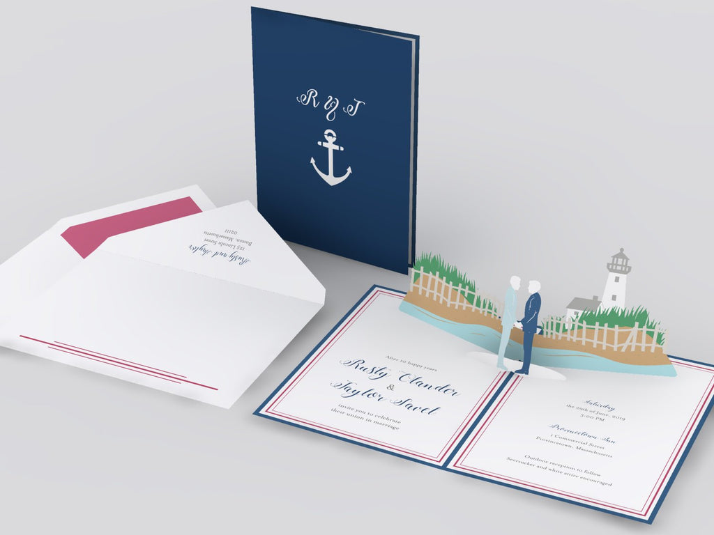 Cape Cod pop up card